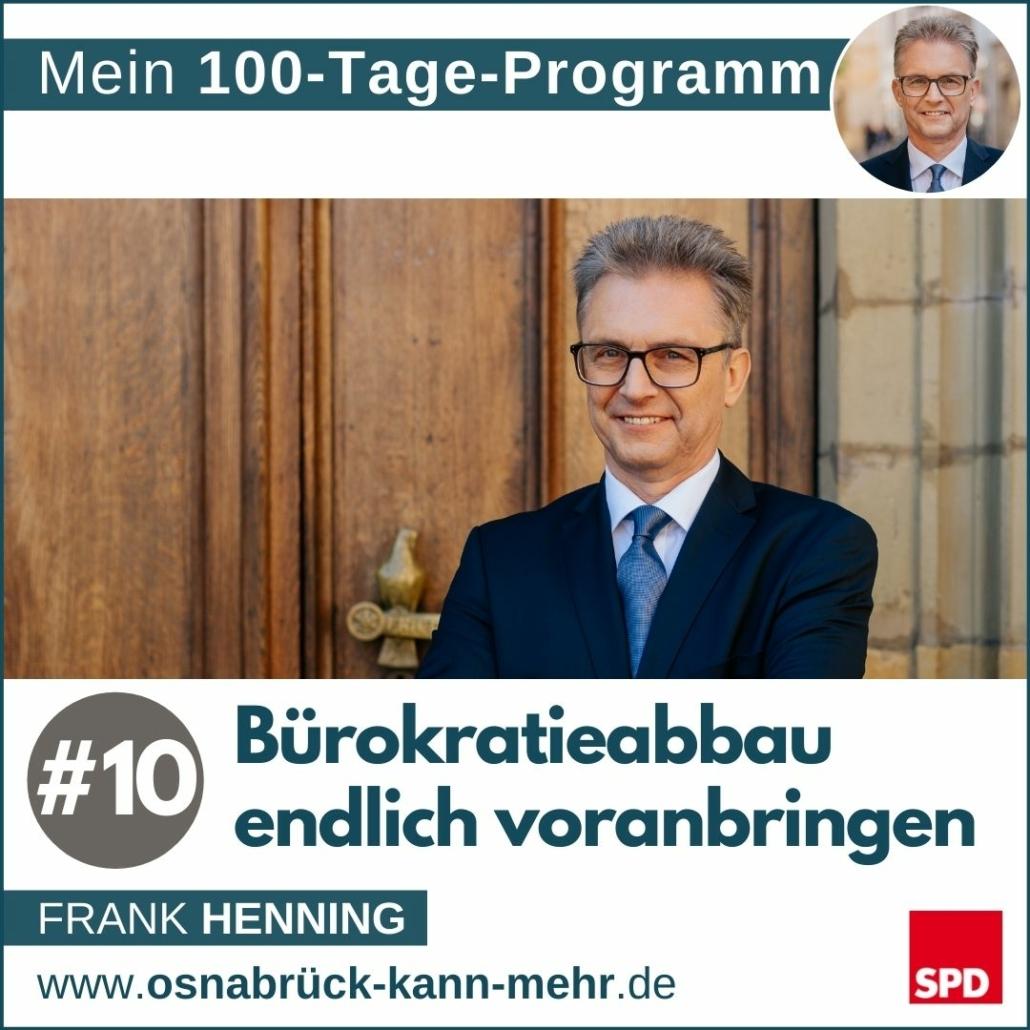 #10 Bürokratieabbau endlich voranbringen